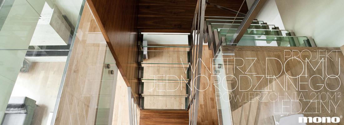 nowoczesny salon-antresola-nowoczesne schody-architektura-wnętrz-katowice-mono